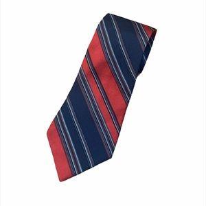 VINTAGE YSL Yves Saint Laurent Stripe Silk Tie